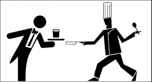 silhouettes-serveur-cuisinier